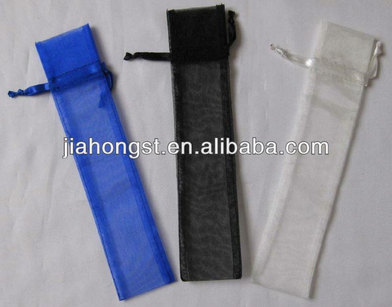 organza fabric chopstick bag with drawstring