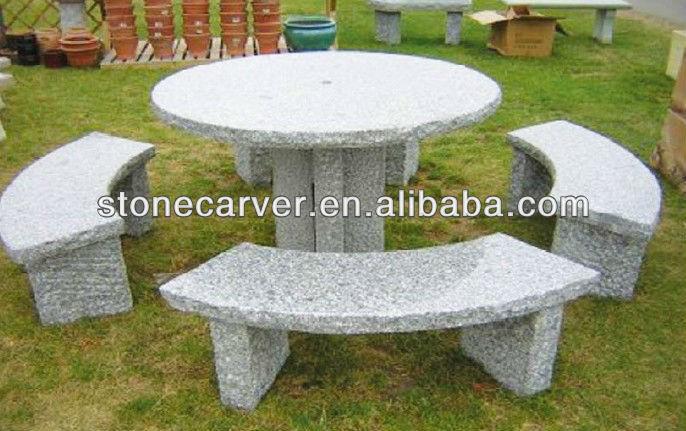 Ext rieur de table en pierre et banc bancs d 39 ext rieur id for Table exterieur pierre