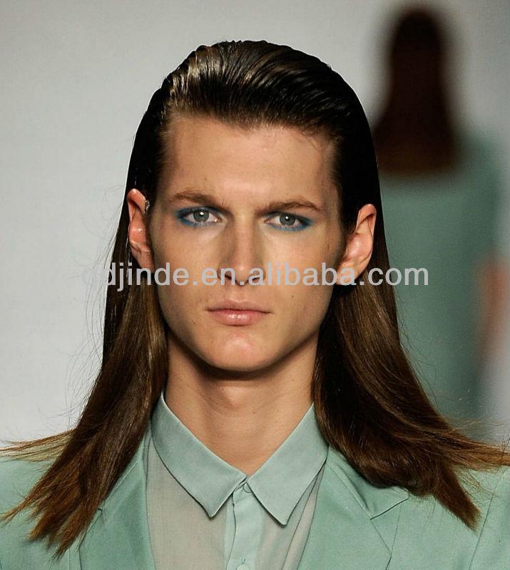 Men Long Hair Lace Wigs - Buy Men Long Hair Lace Wigs,Brazilian Hair