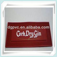 rubber table mats ,famous wine brand name pvc bar mat, border bar runner