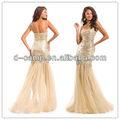 Fancy oc-1456 sparkly lantejoulas equipado corpete saia sereia nude vestidos de noite de noivado