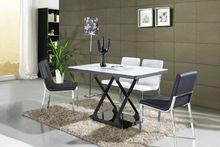 hotel furniture beautiful design carbon steel black coating painting wood tempering glass noble Living room furniture