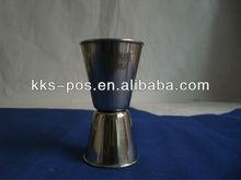 stainless steel dual 50/25ml jigger