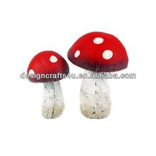 polyresin colorful garden mushroom cultivation