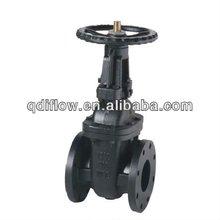 ANSI cast iron gate valve flanged type with bronze trim