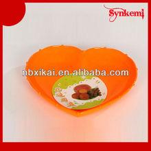 Heart shaped plastic fruit tray design