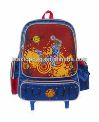 2012 school trolley backpack - Basketball pattern, Jacquard fabric
