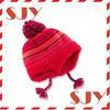 children warm earflap knitted ski hat