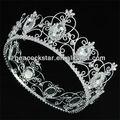 Atacado real full pageant tiara círculo de cristal rei/coroa de rainha ct1721