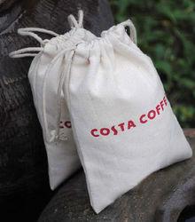 eco-friendly small canvas drawstring bags