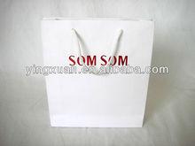 luxury fashion brand white shopping paper bag/shopping bag
