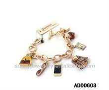 Fashion sunglasses charm bracelet friendship bracelets 2013