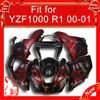 Racing full fairings with ABS plastic for YZF R1 2000 2001, High quality ABS plastic,YZF 00 01 Red flame