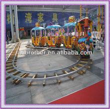 Fun mini train for sale, pirate design electric track train for entertainment