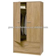 Oak Bedroom Wardrobe 2 Door 2 Drawer Felix Wardrobe