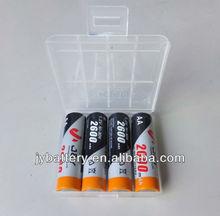 NiMH Rechargeable Batteries, 1 plastic box 4xAA, aa 2600mAH 1.2v