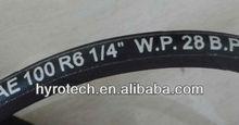 high quality SAE 100 R6 industrial hydraulic rubber hose