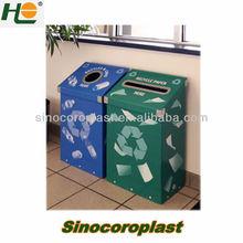 Recycled Plastic Corrugated Waste Bin