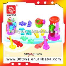 Plastic mini sand beach toys play set