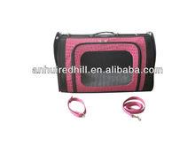 Pink PU pet carrier