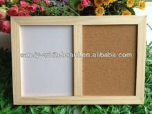 Wooden combination board whiteboard&cork board