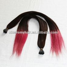 Premium quality 100% Brazilian human hair I tip hair extensions