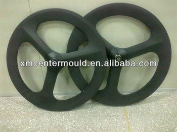 carbon fiber three spoke wheel road tri spoke bicycle wheel