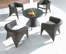 Rattan outdoor furniture four seats