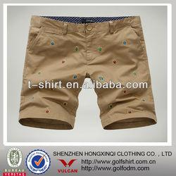 2013 Fashion Cotton Summer Bench Shorts For Men Kakhi Color