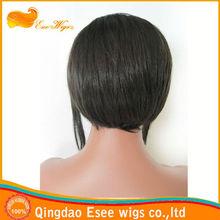 Fastock wholesale 100% human hair short straight bob lace front wig1B