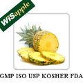 Wisapple gmp&iso fabricante bromelina& la papaína enzima proteolítica
