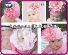 Cute Big Flower 100% Cotton Baby Hats Caps