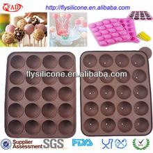 Los agujeros 20 novedad forma redonda de silicona de hielo bandeja del cubo de color chocolate 22.5cm( w)*18cm( l)