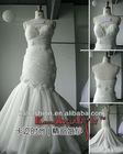 EB2203 Mermail stereoscopic flowers and bead wedding dress