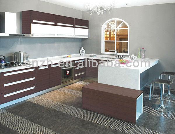 Brown gloss pintado portas de MDF madeira compensada carcases moderna armário de cozinha 3953 - Kitchen Cabinet Carcases