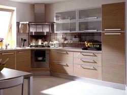 Simple design L shape laminate kitchen cabinet for sale