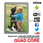 Quad core mid tab pc with 2GB RAM 9.7 inch IPS screen tablet PC