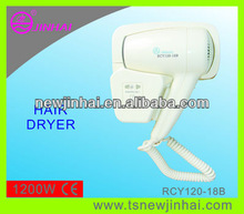 2013 New Design Wall mounted hotel hair dryer (1200W)