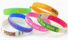 silicone college team bracelet