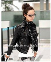 Womens studded pu leather jackets