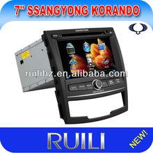 Double Din Motorized 7 inch Car DVD Ipod Iput for SsanngYongKorando with GPS