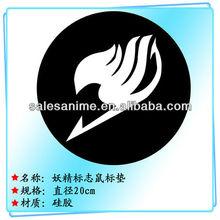 Wholesale 2 stylea Anime Tail cartoon circular logo graphic silicone mouse pad Fairy