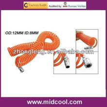 PU Spring Spiral Pneumatic 15M Length 12mm OD 8mm ID Tube Hose Air Brake PU Coil Hose Tube
