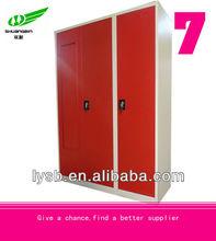 KD structure 3 door steel wardrobe cabinet design