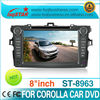 OEM Multimedia Navigation DVD for Toyota Corolla 2008-2012 with 3G usb port high quality!