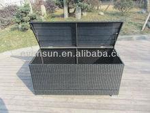 KD rattan storage cushion box
