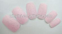 Newly 24PCS pink Color Velvet Nail Tips elegant enjoy