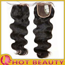 12''-30'' short human hair brazilian hair weave closure