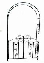 Artistic metal garden arch
