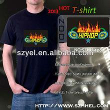2013 newly! hiphop led tshirt, led sound activated t-shirts